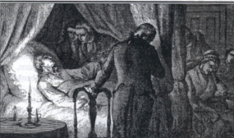 George Washington's last days in which he was bled (maybe to death?)