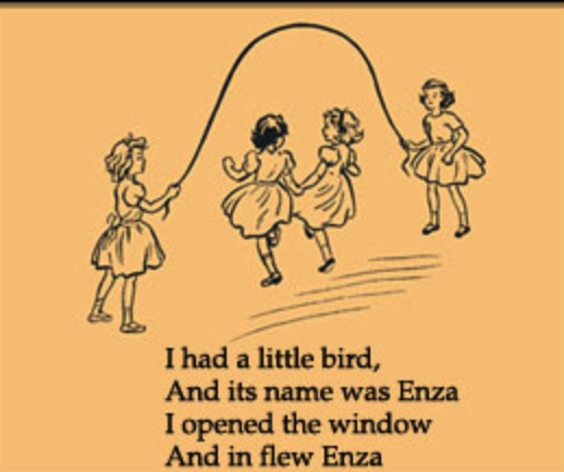 "A children's nursery rhyme about influenza (""in flew Enza"")"