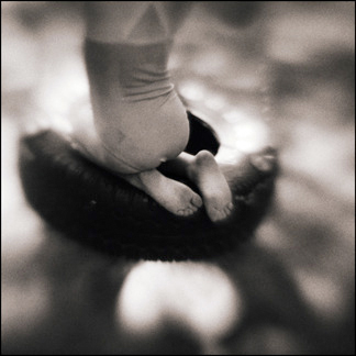 Julia's Feet, Miller Place, NY - Platinum Print