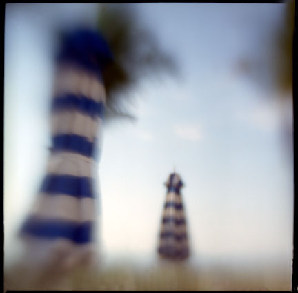 Striped Umbrellas, Sanibel, Florida
