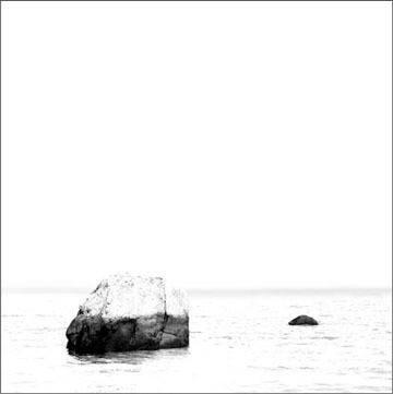 Boulders, Nissequogue, NY - Carbon Ink Print