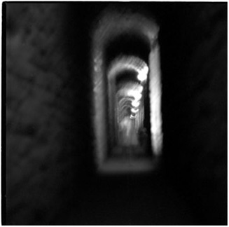 Searching for an exit, Assisi, Italy - Platinum Print