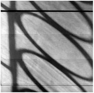 "Circles & Lines -  Silver Print 20""x20"""