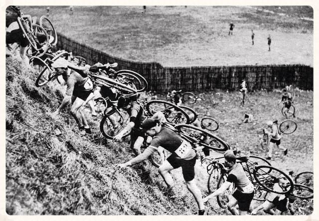 Cyclocross race circa 1931.
