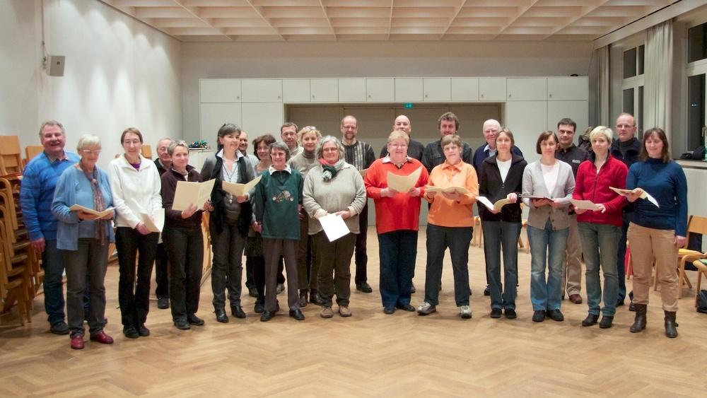 Chor von St. Andreas bei der Probe. Foto: 2012 Benjamin Dahlhoff