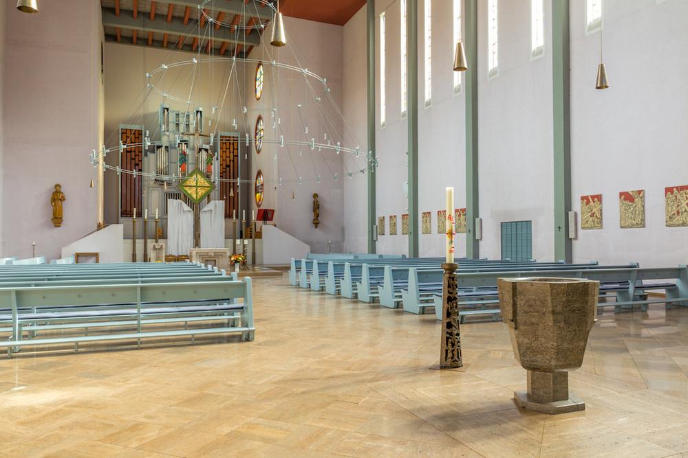 Innenraum von St. Elisabeth. Foto: 2013 Benjamin Dahlhoff