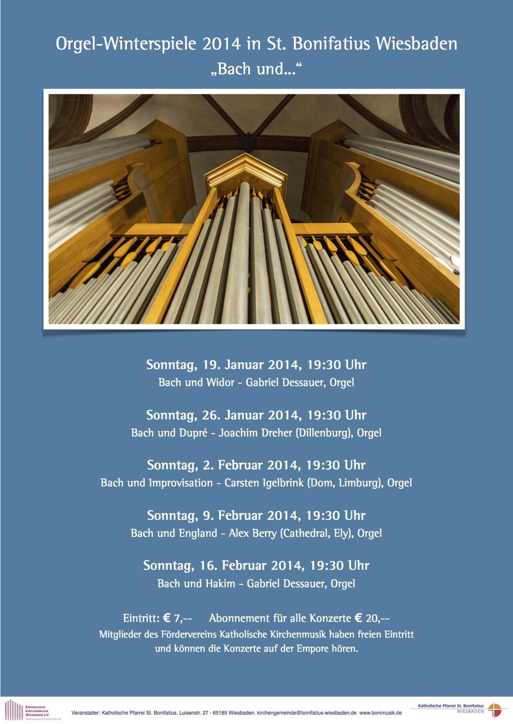Plakat Orgelwinterspiele 2014