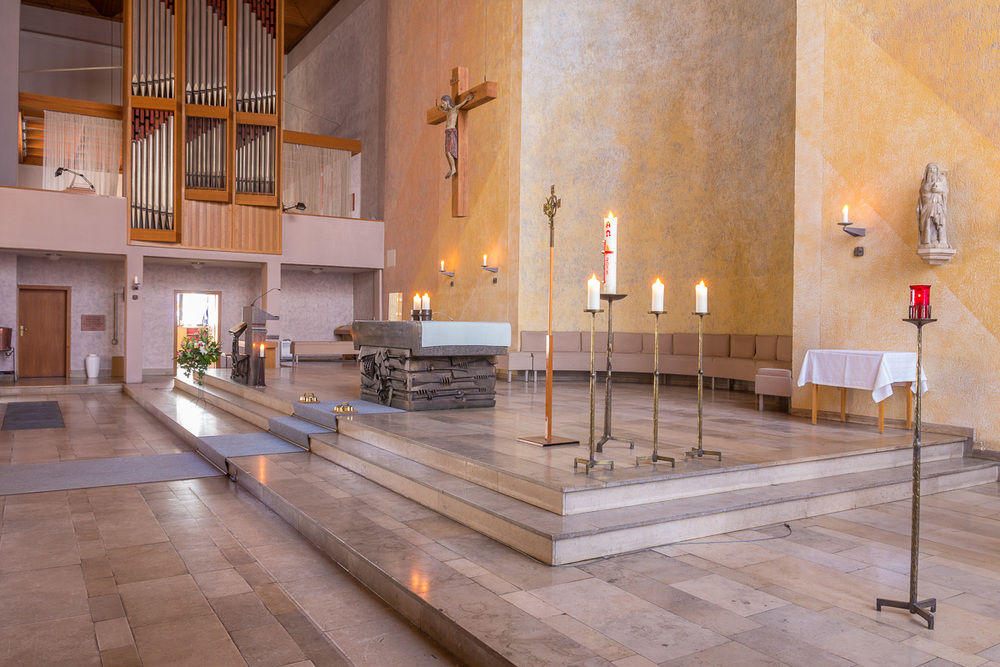 Altarraum in St. Andreas. Foto: 20014 Benjamin Dahlhoff