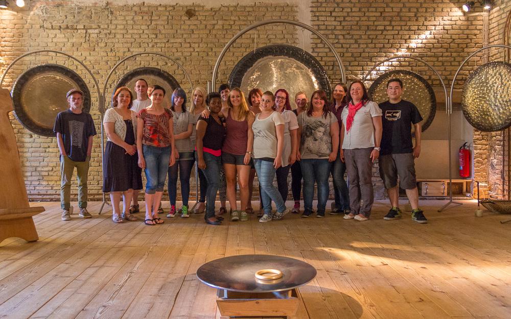 Unsere Auszubildenden auf Schloss Freudenberg am 11. Juni 2014. Foto: Benjamin Dahlhoff