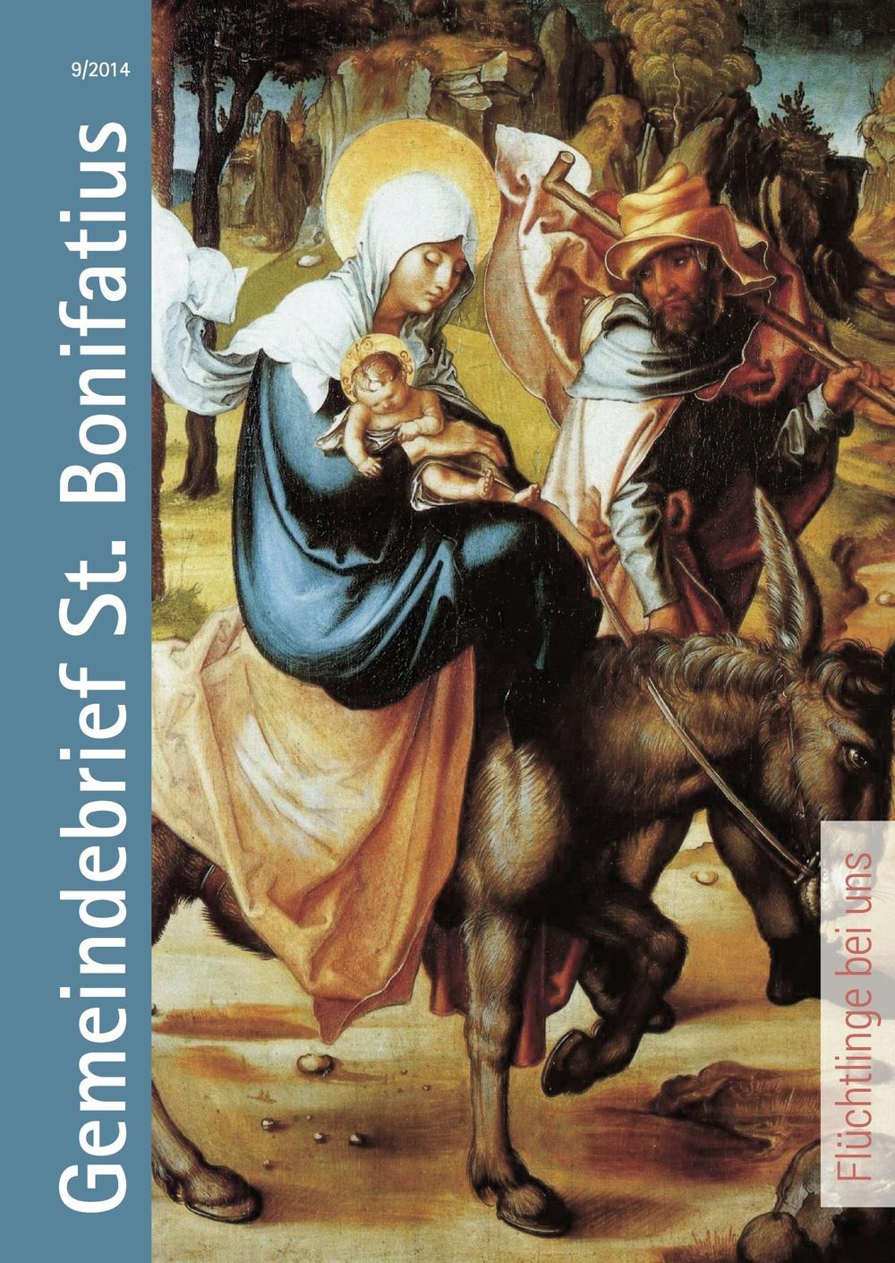 Titelseite des Gemiendebries 9/2014. Albrecht Dürer: Die Flucht aus Ägypten