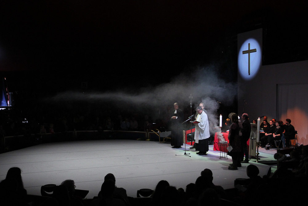 Ökumenischer Abschlussgottesdienst mit Pfarrer Stephan Gras und Dekan Dr. Martin Mencke. Foto: Benjamin Dahlhoff