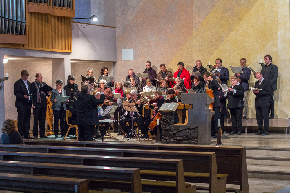 Generalprobe des Chors von St. Andreas vor der Orchestermesse am 23.9.2012. Bild: Benjamin Dahlhoff