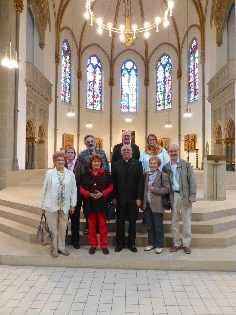Besuch von Bischof Sebastiao Bandeira Coêlho am 27. September am Kirchort Dreifaltigkeit. Foto: Carolin Enenkel
