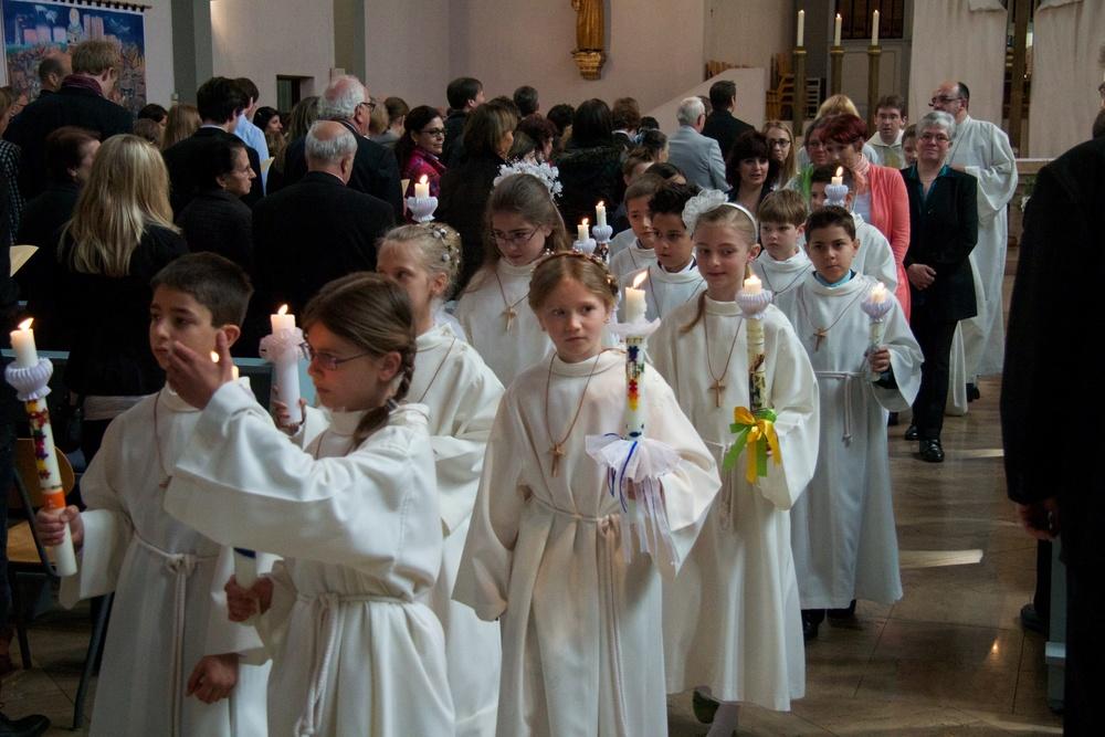 Erstkommunion in St. Elisabeth 2012. Foto: Benjamin Dahlhoff