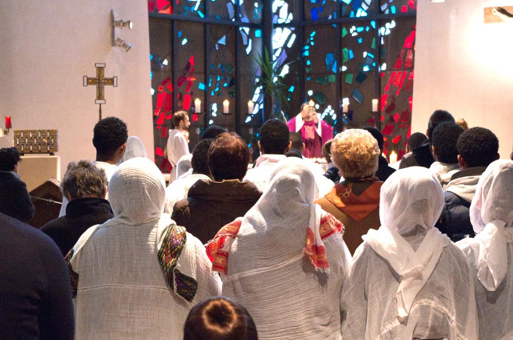 Eritreische Christen zu Gast in St. Michael