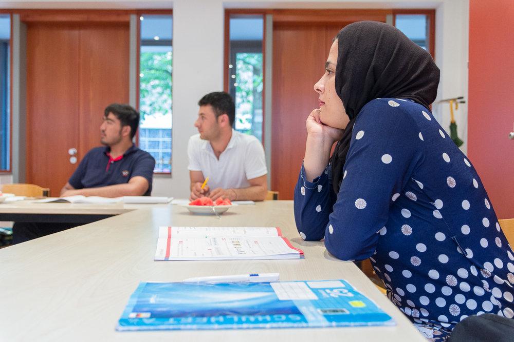 Sprach- und Integrationskurse im Gemeindezentrum von St. Andreas. Foto: Benjamin Dahlhoff 2016