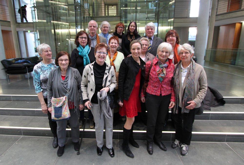 Die Kochgruppe bei MdB Kristina Köhler 2016 in Berlin