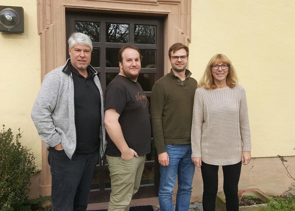 Andreas Schuh, Ruben Manger, Thomas Burek und Jutta Fechtig-Weinert
