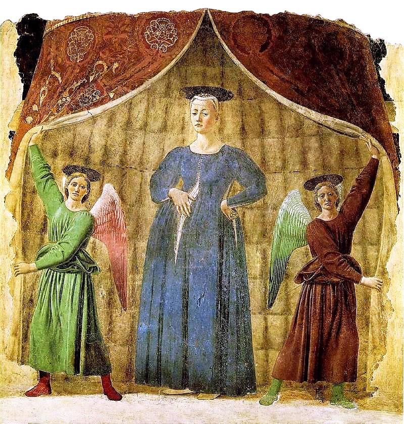 Bild: Madonna del Parto von Piero della Francesca. Lizenz: Gemeinfrei.