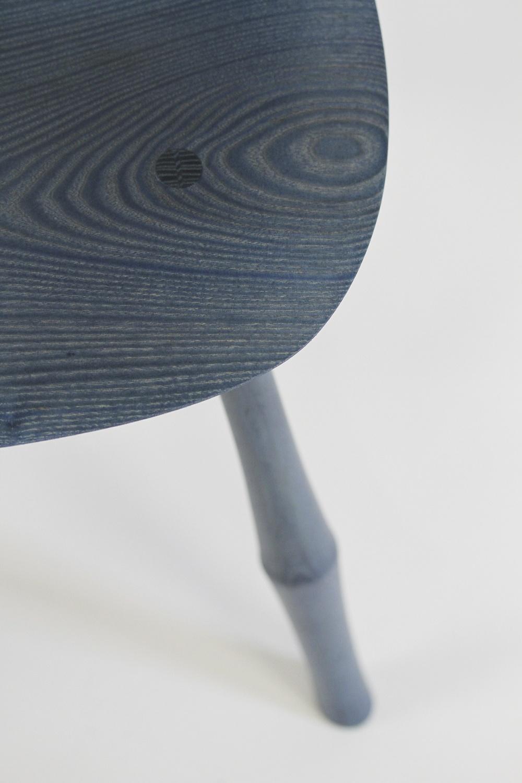Wayland Sidechair:  Sky Blue Stain on Ash