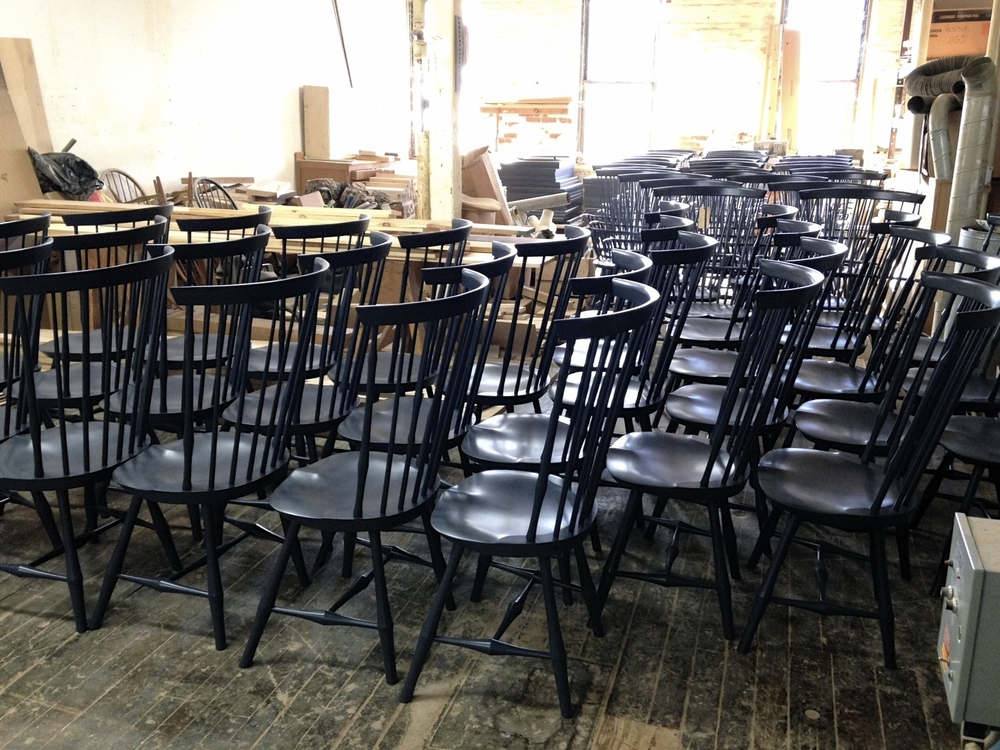 Wayland Highback Sidechairs in Custom Paint