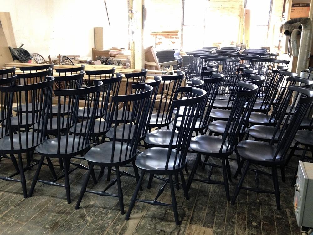 Wayland Highback Sidechairs in Custom Paint