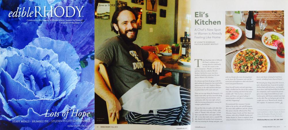 O&G for Eli's Kitchen - Warren, RI