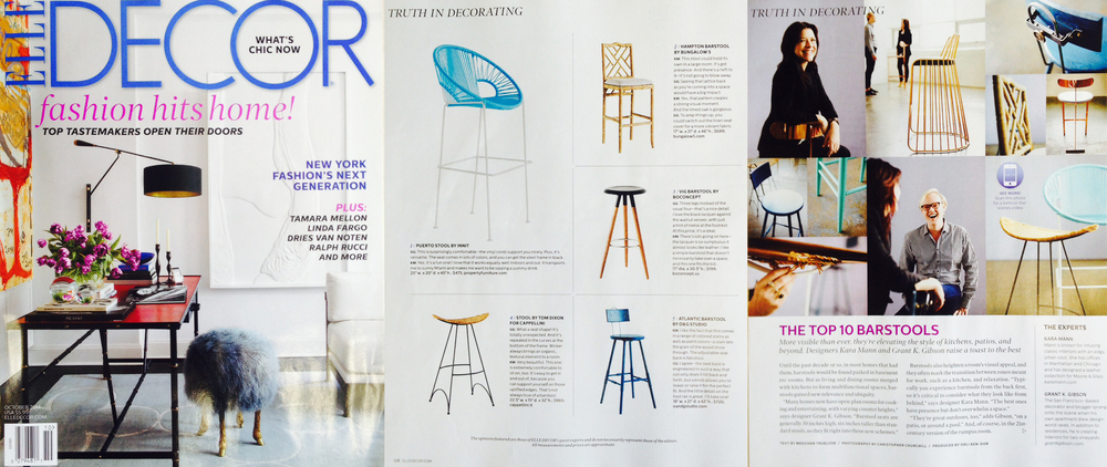Top Ten Barstools - October 2014 Elle Decor