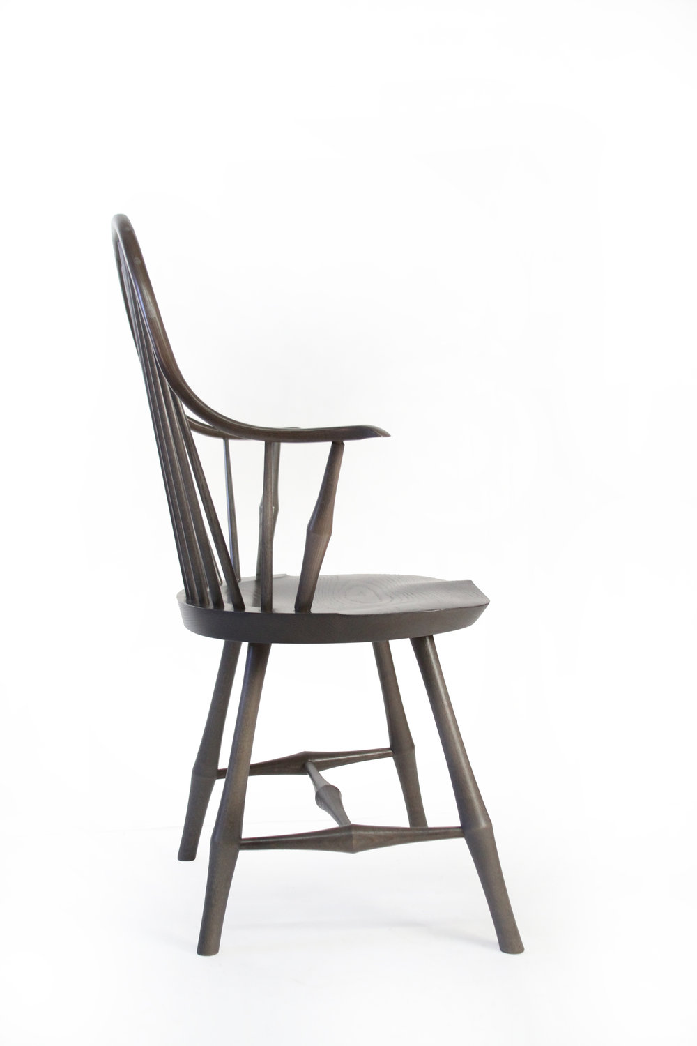 O&G Studio Wayland Elbow Windsor Chair Lichen Stain Ash