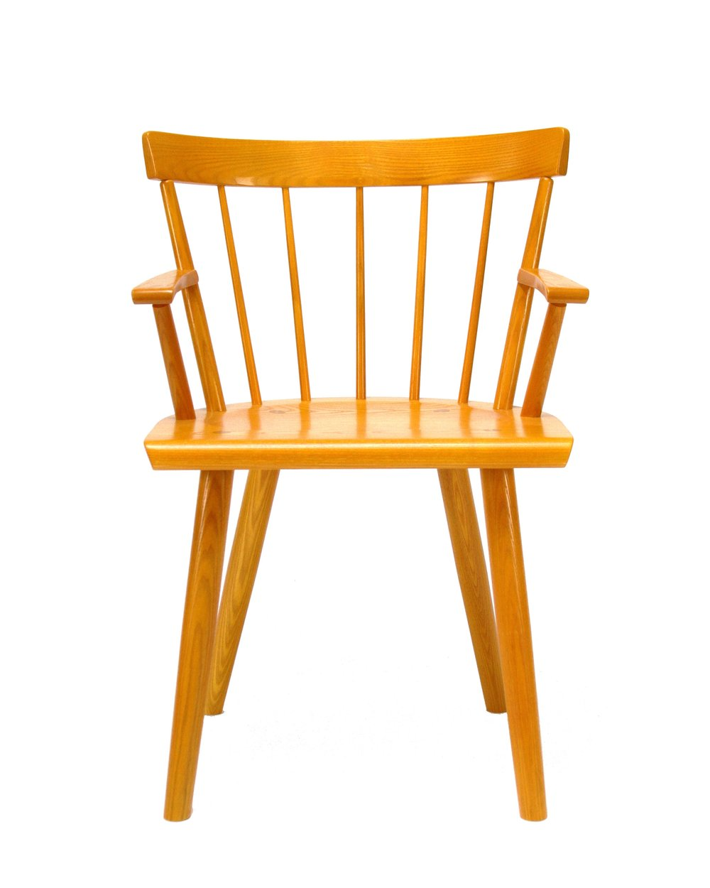 O&G Studio Colt Low Back Lowback Windsor Contemporary Dining Chair Armchair Large Turmeric Stain Tumeric Stain on Ash