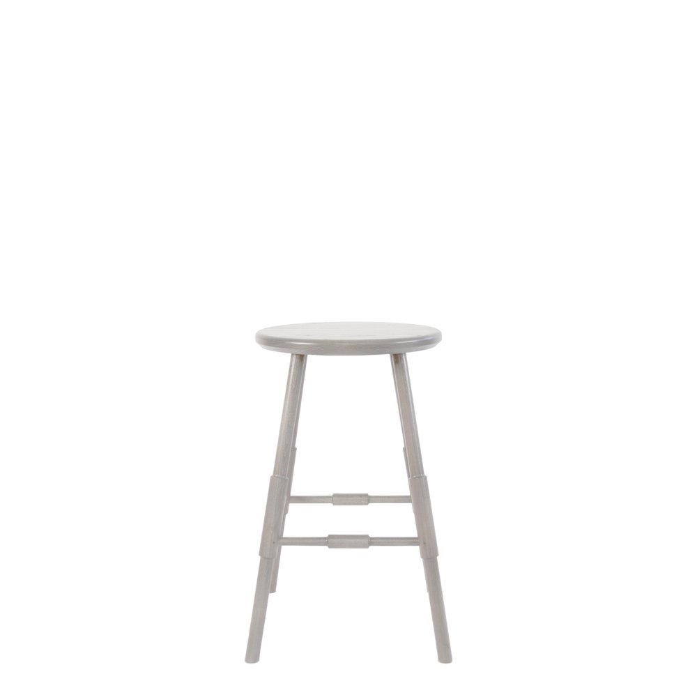 Atlantic Stool 24 Front View Grey- Backless.jpg