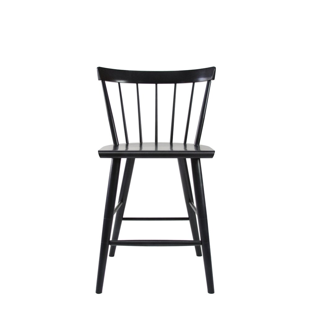 O&G Studio Colt Low Back Counter Stool Windsor Contemporary Dining Chair Side Chair Stain on Ash