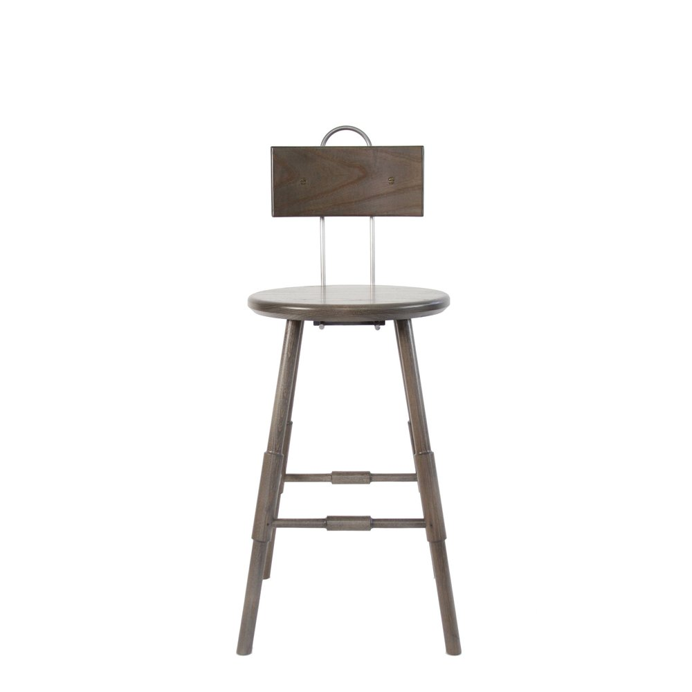 Atlantic Counter Stool with Back 24 Grey Stain Ash Wood Metal Brass Industrial Modern Windsor American Made Lichen Stain O&G Studio.jpg