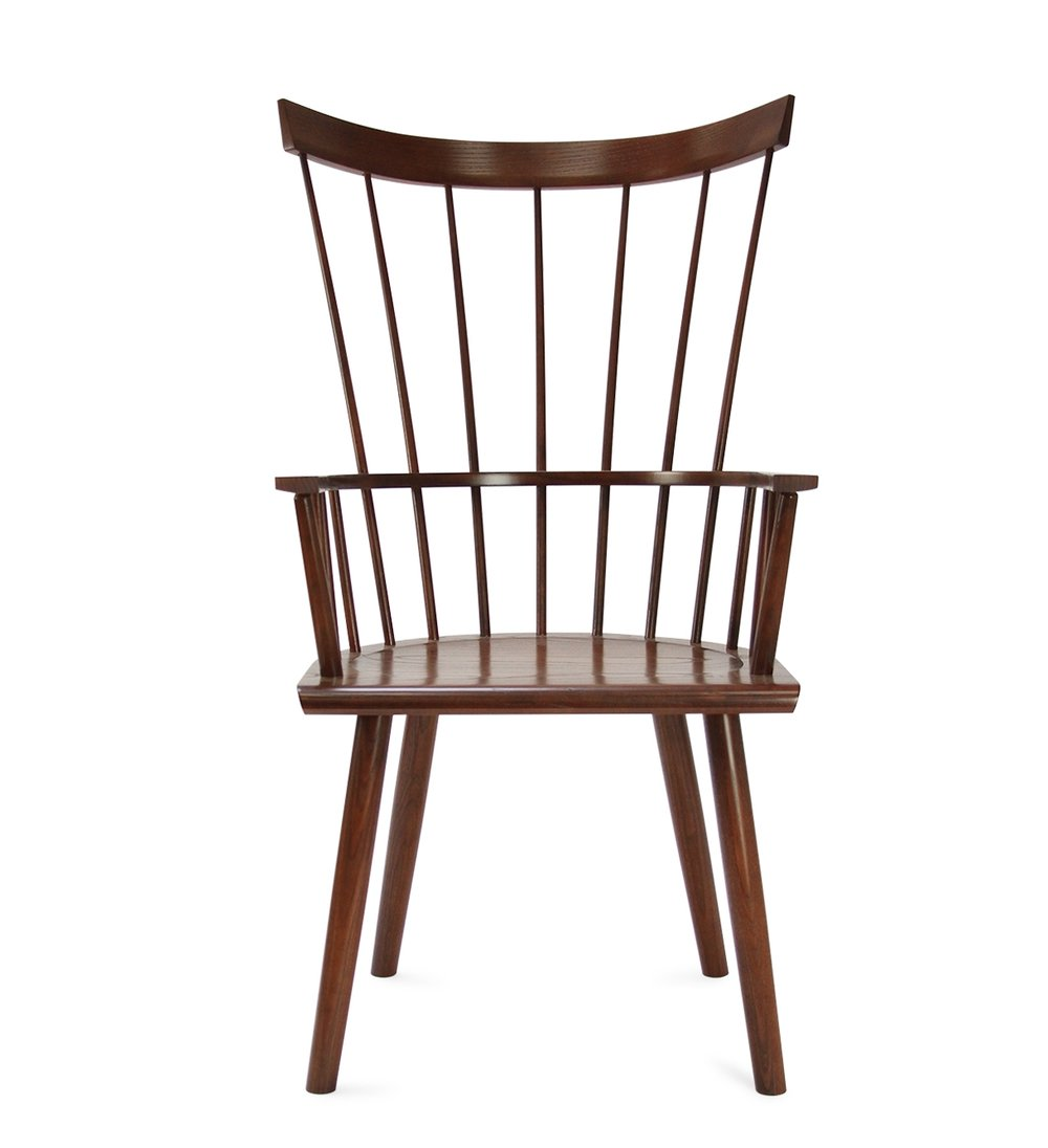 COLT HIGH-BACK ARMCHAIR - $816 (20% off)  -  Walnut Stain - Custom Requested Showroom Model from a previous Boston Showroom.  Rarely stained with a natural wood stain.  Looking to move this one along, none like it built before.