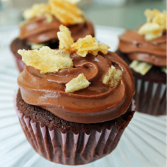 Chocolate Potato Chip Cupcakes