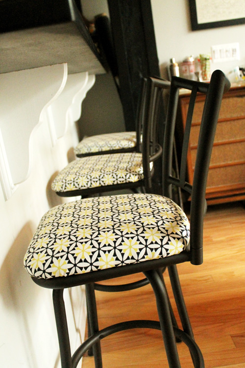 Before And After Reupholstering Bar Stools Unusually Lovely