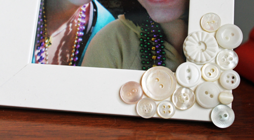Decorate a Frame with Buttons — Unusually Lovely