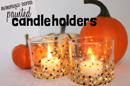 anthropologie inspired painted candle holders diy unusually lovely - Diy Candle Holders