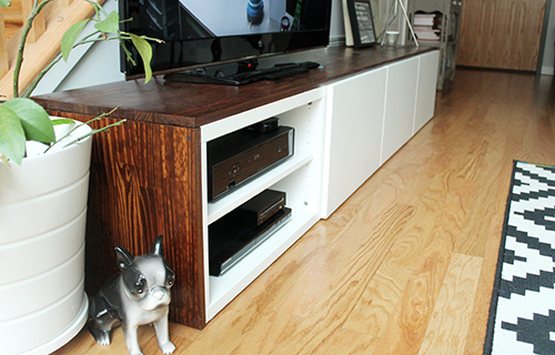 We Built a TV Stand — Unusually Lovely