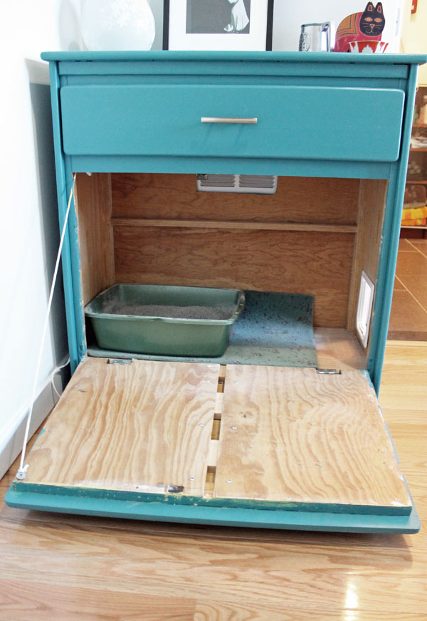 Before after litterbox unusually lovely - Cat litter boxes for small spaces design ...