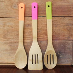 Neon-Painted Utensils