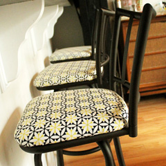 Reupholstered Bar Stools