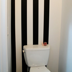 Washi Tape Stripes in Bathroom