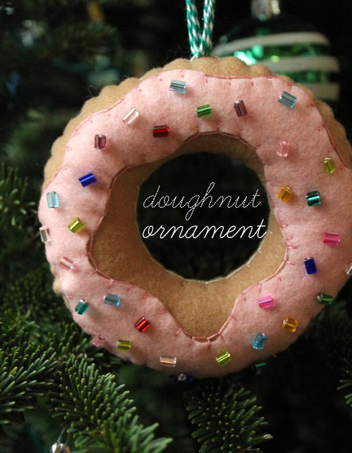 Diy Felt Doughnut Ornaments Unusually Lovely