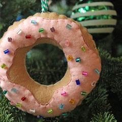 Felt Donut Ornament