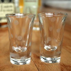 Etched Polka Dot Shot Glasses