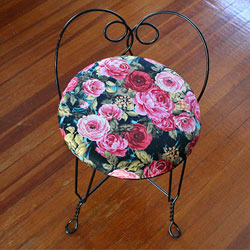 Reupholstered Vanity Stool