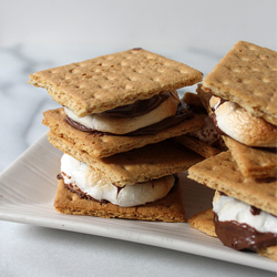 nutella and Banana indoor s'mores