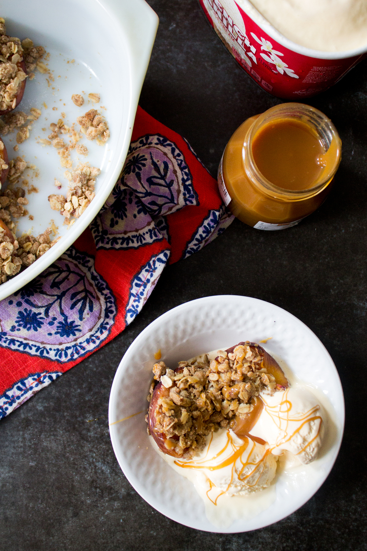 Baked Peaches via Unusually Lovely