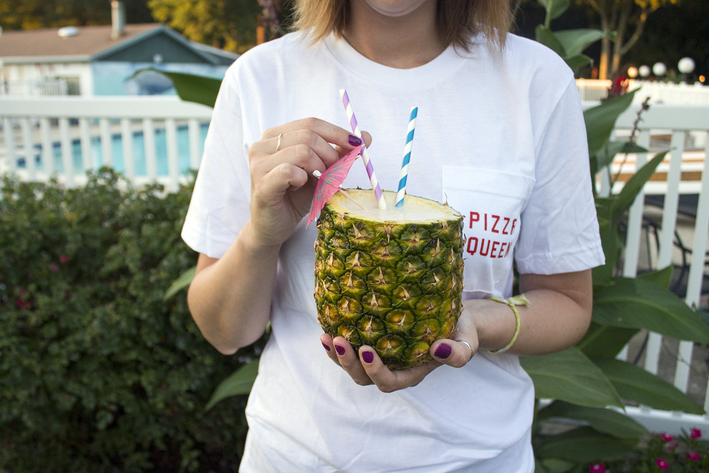 Make your own Pineapple Cup to serve this Banana Pineapple Daiquiri on UnusuallyLovely.com